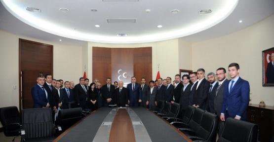 MHP Gölbaşı İlçe Teşkilatı'ndan  MHP Genel Başkanı Bahçeli'ye  ziyaret