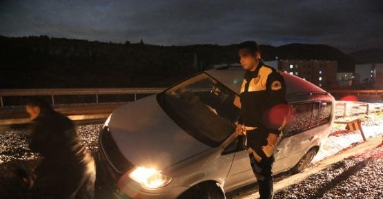 Milas'ta alkollü sürücü kaza yaptı