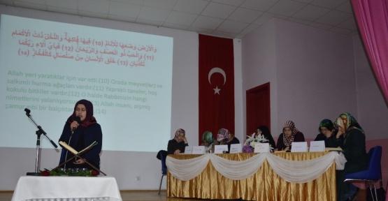 """Niksar'da """"Kur'an-ı Kerim'i Güzel Okuma"""" Yarışması"""