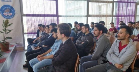 """Öğrencilere """"tütünle mücadele"""" semineri"""