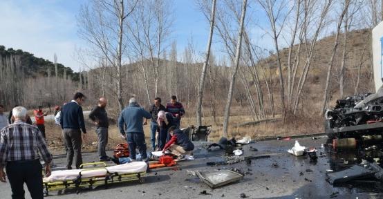 Osmancık'ta trafik kazası: 2 yaralı
