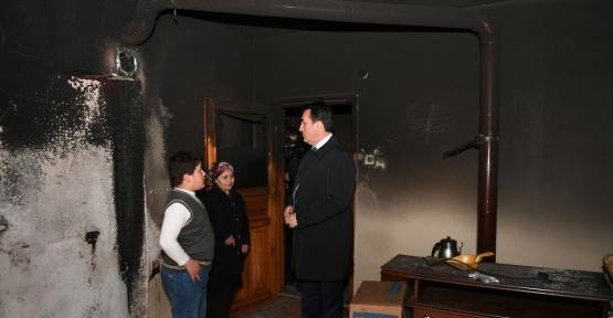 Osmangazi evi yanan aileye sahip çıktı