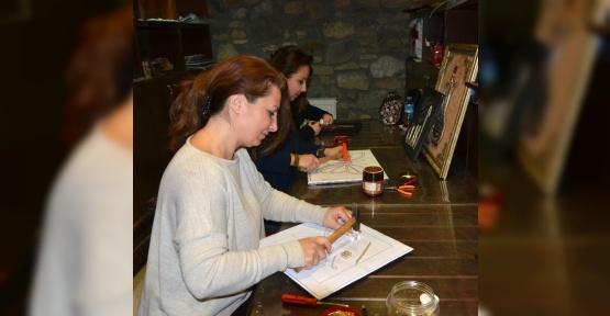 Osmangazi'de filografi kursuna yoğun ilgi