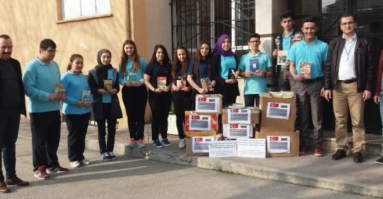 (Özel Haber) Bursalı liseliler, soydaş öğrenciler için Bulgaristan'a kütüphane kuruyor