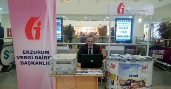Palerium AVM'de kira gelirleri beyanname kabul stantı açıldı