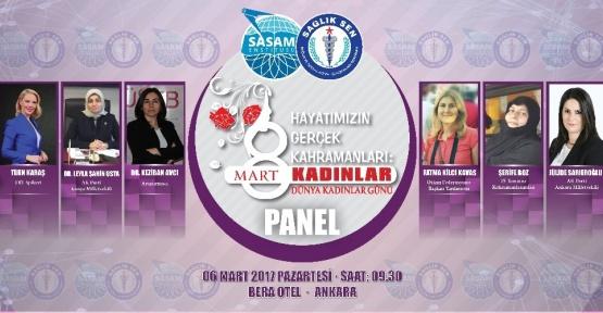 Sağlık-Sen'den Kadınlar Günü paneli