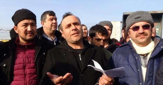 Servislere alınmayan fabrikanın taşeron işçileri eylem yaptı