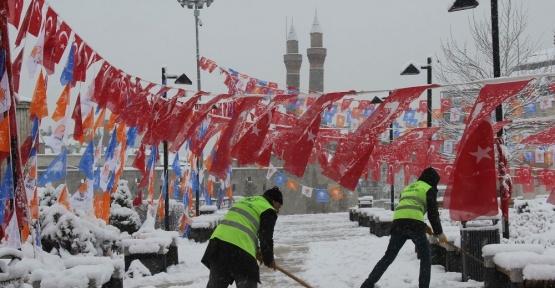 Sivas'ta Mart karı