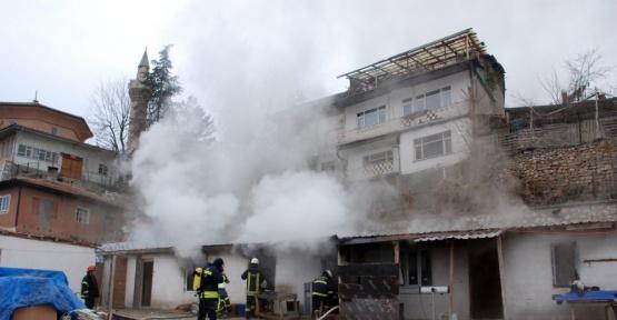 Tokat'ta işçi yemekhanesinde yangın