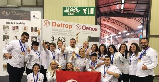 Türkiye'yi temsil eden ADÜ'lü aşçı madalyayla döndü