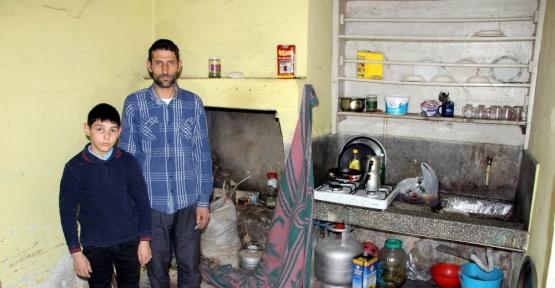Virane evde yaşam mücadelesi