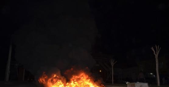 Yakılan lastikler polisi harekete geçirdi