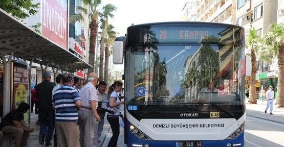 YGS'ye gireceklere Denizli Büyükşehir otobüsleri ücretsiz
