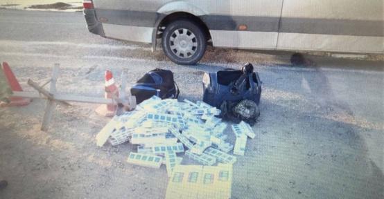 Yolcu valizlerinden kaçak sigara çıktı