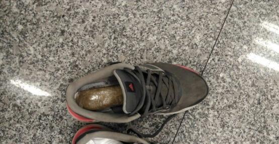 Zehir taciri havalimanında yakalandı