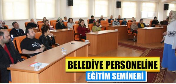 Karaman Belediyesi personeli eğitim semineri aldı