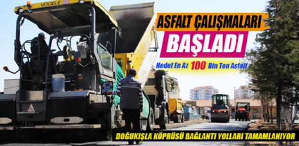 Karaman'da asfalt çalışmaları başladı