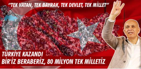 Karaman'da Başkan Çalışkan, 80 milyon tek milletiz dedi