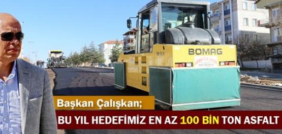 Karaman'da bu yıl en az 100 bin ton asfalt hedefleniyor