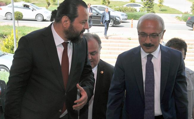 Bakanı Lütfi Elvan, Akgül'ü makamında ziyaret etti
