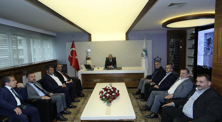 Başkan Çelik, Belediye Başkanlarını ağırladı