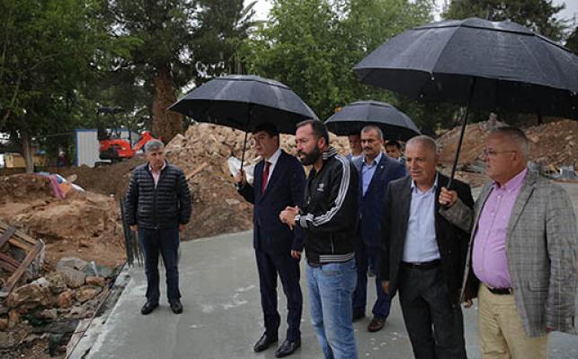 Başkan Türel, Projeleri yerinde inceledi