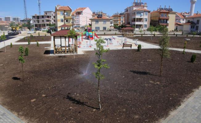 Karaman'da güzel parklar kuruluyor