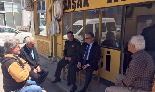 Karaman Valisi Tapsız, Semerciler Esnafını ziyaret etti