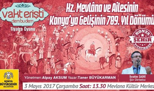 Konya'da 789. Yıl Dönümü etkinlikleri başladı