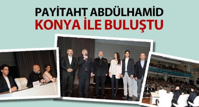 Orhan Osmanoğlu ile Payitaht Abdülmahid dizisi oyuncuları Konya'da