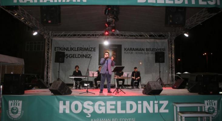Abdurrahman Önül bu akşam Karaman'da sahne alıyor