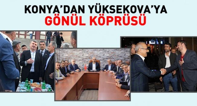 Hakkari Yüksekova'da çeşitli temaslarda bulundu