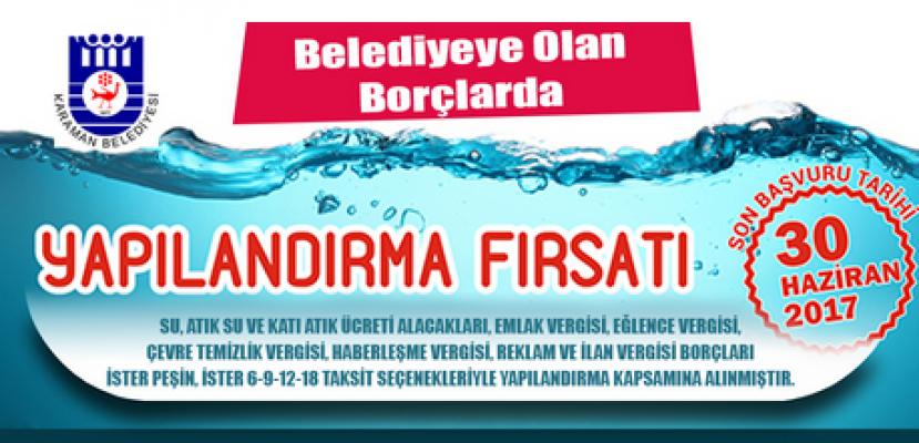 Karaman Belediyesi, borçları yeniden yapılandırıyor