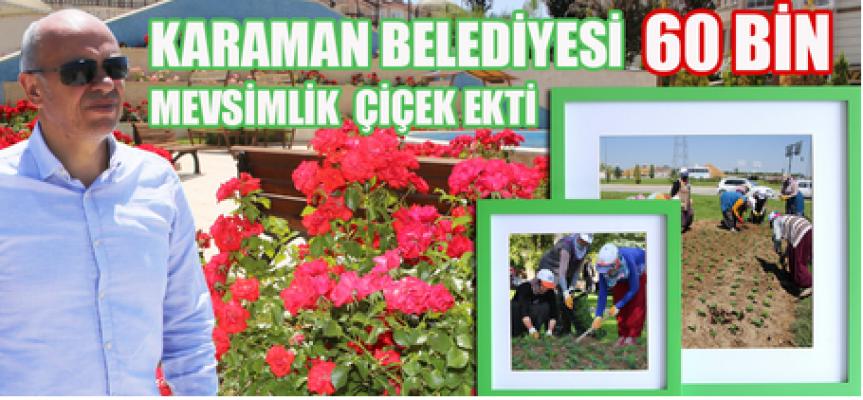 Karaman'ın dört bir tarafı çiçeklerle donatıldı