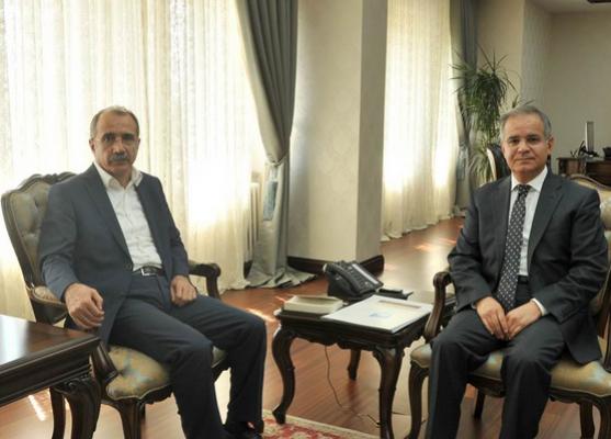 Prof. Dr. Ömer Dinçer Vali Tapsız'a nezaket ziyaretinde bulundu
