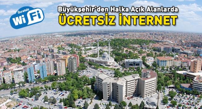 Konya'da ücretsiz şarj ve kablosuz internet hizmeti