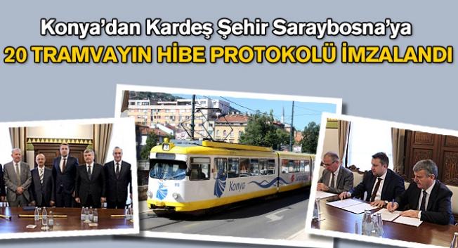 Saraybosna Büyükşehir Belediyesi'ne 20 adet tramvay hediye etti