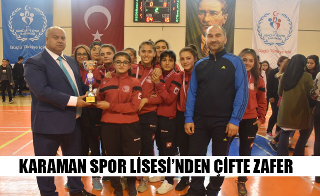 KARAMAN SPOR LİSESİ'NDEN ÇİFTE ZAFER