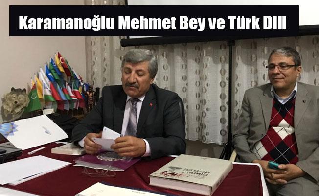 Karamanoğlu Mehmet Bey ve Türk Dili