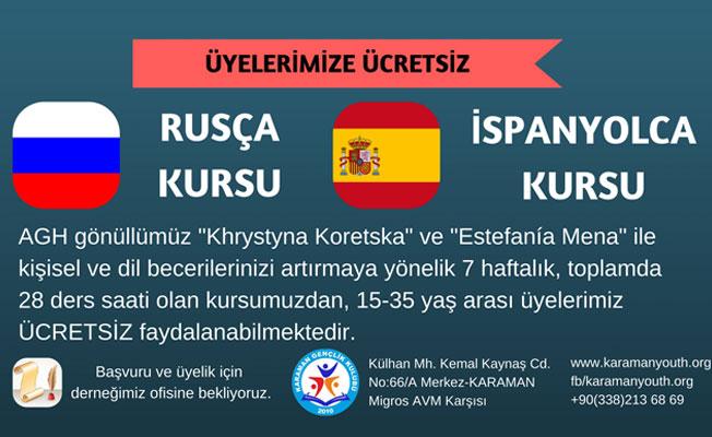 Ücretsiz Rusça ve İspanyolca Kursu