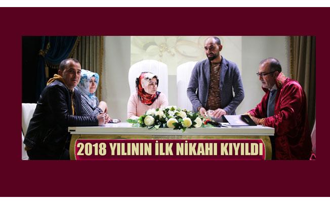2018 YILININ İLK NİKÂHI KIYILDI