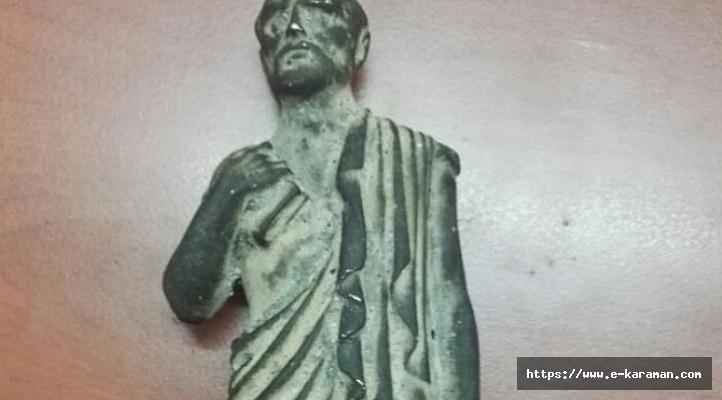 ROMA DÖNEMİNE AİT BRONZ HEYKEL BULUNDU