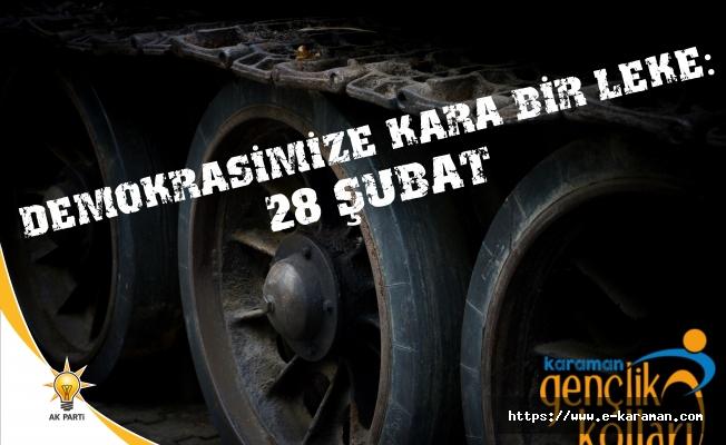 AK Parti Karaman Gençlik Kolları Başkanı Av. Mustafa KALE 28 Şubat ile ilgili basın açıklamasında bulundu.