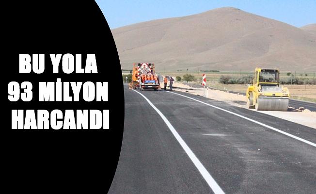 BU YOLA 93 MİLYON HARCANDI