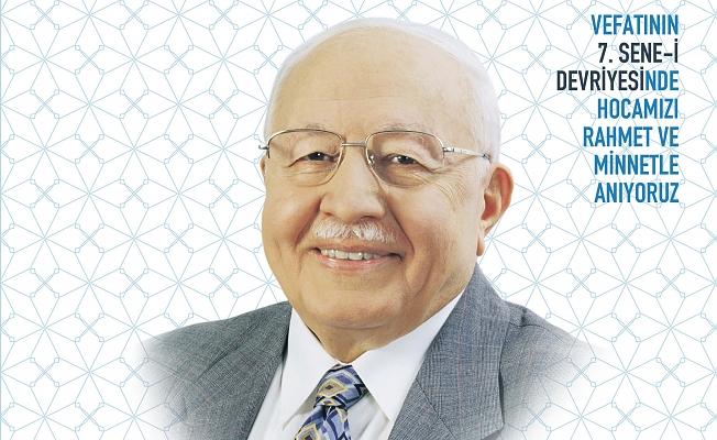 Merhum Prof. Dr. Necmettin Erbakan'ı anılacak