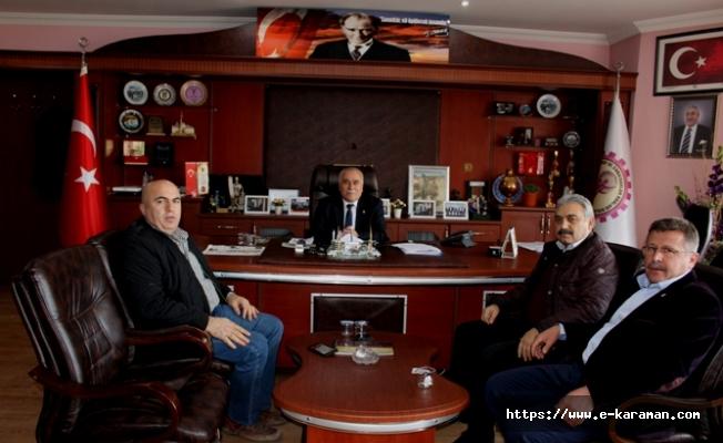 ZİRAAT ODASI BAŞKANI RECEP MUĞLU'DAN BAYRAM UYSAL'A ZİYARET