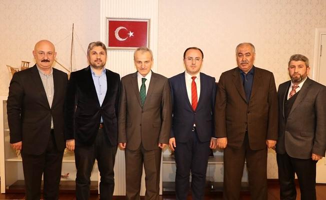 Bartın Dernekler Birliği ile İstanbul Bartınlılar Derneğinden Vali DİRİM'e Ziyaret