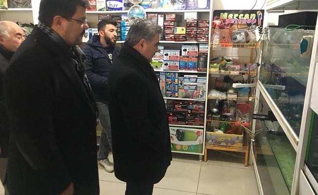 Belediye Başkanımız Cafer Özdemir'den İstasyon Caddesi Esnafına Ziyaret