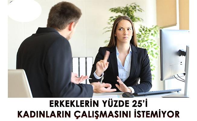 ERKEKLERİN YÜZDE 25'İ KADINLARIN ÇALIŞMASINI İSTEMİYOR