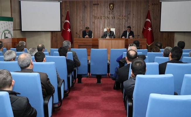 İl İdare Şube Başkanları Vali DİRİM Başkanlığında Toplandı